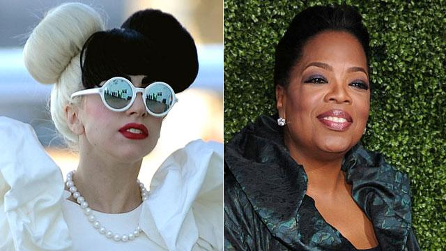 Gaga & Oprah Top Forbes' List of Top Celebs