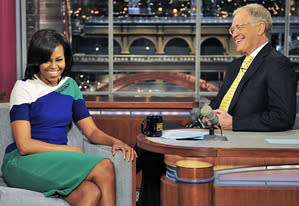 Michelle Obama and David Letterman | Photo Credits: John Paul Filo/CBS