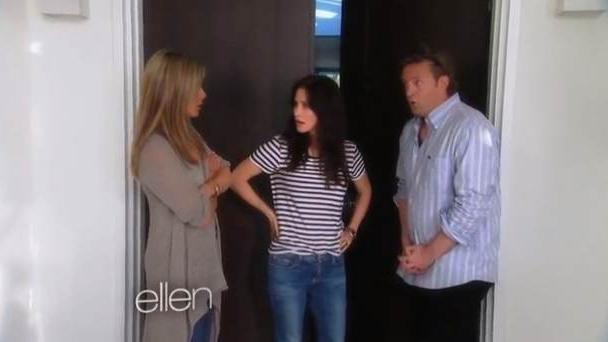 Jennifer Aniston, Courteney Cox and Matthew Perry seen on 'The Ellen DeGeneres Show' on May 22, 2013  -- The Ellen DeGeneres Show