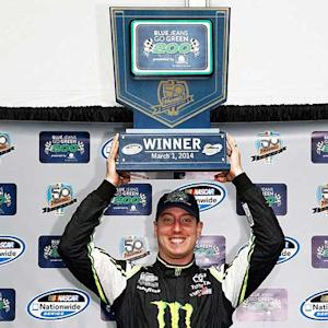 Victory Lane: Busch wins rain-shortened race