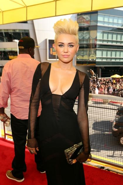 Miley Cyrus arrives at the 2012 MTV Video Music Awards at Staples Center, Los Angeles, on September 6, 2012 -- Getty Images