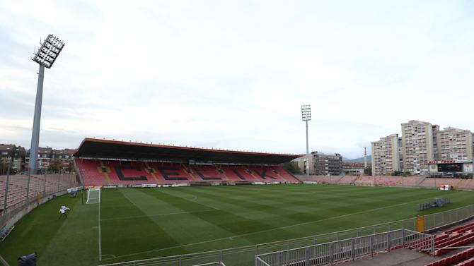 General View of the Stadion Bilino Polje before the press conference