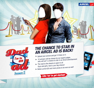 9 Cool Fathers Day Facebook Campaigns 2013 image aircel dad im in ad