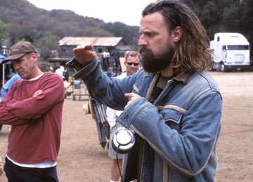 Director Rob Zombie on the set of Lions Gate Films' The Devil's Rejects