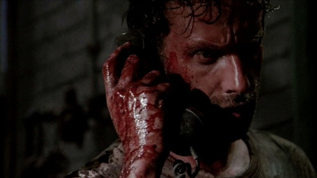 "Rick Grimes (Andrew Lincoln) in ""The Walking Dead"" episode, ""Hounded."""
