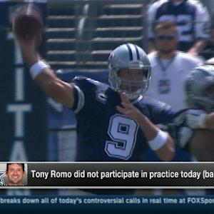 Dallas Cowboys quarterback Tony Romo expected to practice Thursday