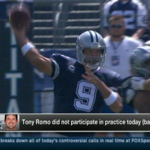 Dallas Cowboys quarterback Tony Romo expected to practice Thursday