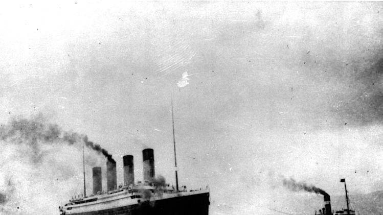 FILE - In this April 10, 1912 file photo, the Titanic departs Southampton, England on its maiden Atlantic voyage. April 15, 2012 is the 100th anniversary of the sinking of the Titanic, just five days after it left Southampton on its maiden voyage to New York. (AP Photo, File)