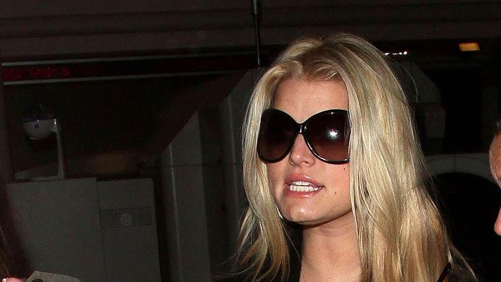 Jessica Simpson LAX Airport