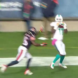 Miami Dolphins wide receiver Mike Wallace hauls in TD