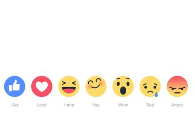 Facebook's new Reaction feature builds popular emoji options into posts