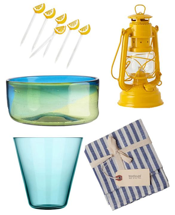 Perfect tabletop accessories for outdoor entertaining: