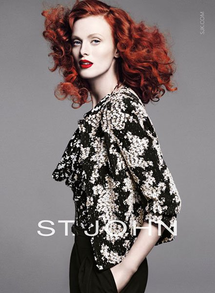 Karen Elson for St. John