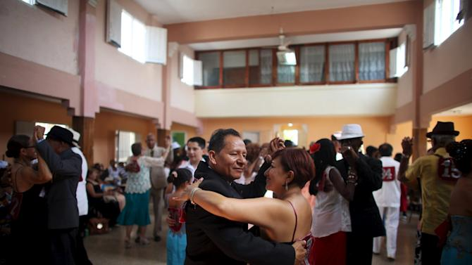 People dance during 9th International Festival Danzon in Havana