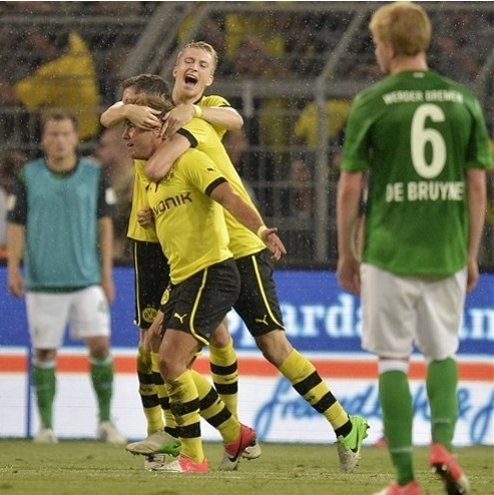 Dortmund beats Bremen 2-1 in Bundesliga opener The Associated Press Getty Images Getty Images Getty Images Getty Images Getty Images Getty Images Getty Images Getty Images Getty Images Getty Images Ge