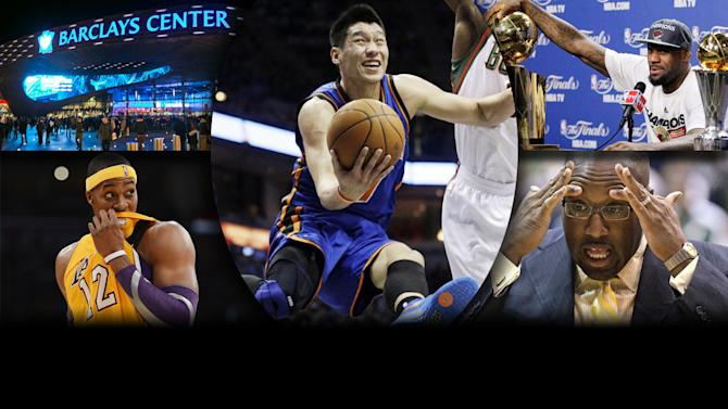 2012 Year in Review - NBA: The year's top stories featured The Nets' move to Brooklyn, The Lakers' coaching issues, Dwight Howard's offseason move, Lebron James and Jeremy Lin.