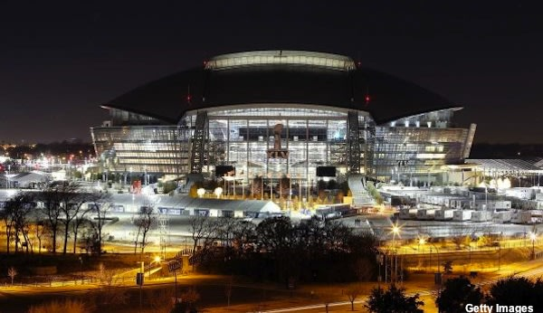 Cowboys Stadium in Arlington, which has hosted a series of top drawing Texas state title games — Getty