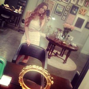 Lindsay Lohan shows off her red hair on July 3, 2012 -- Twitter