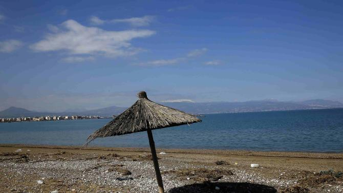 A beach near the coastal town of Corinth