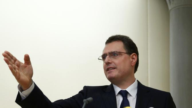 Jordan chairman of the Swiss National Bank addresses a news conference in