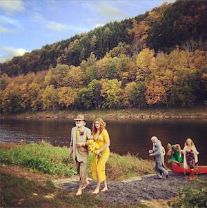 See Amber Tamblyn's Yellow Wedding Dress!