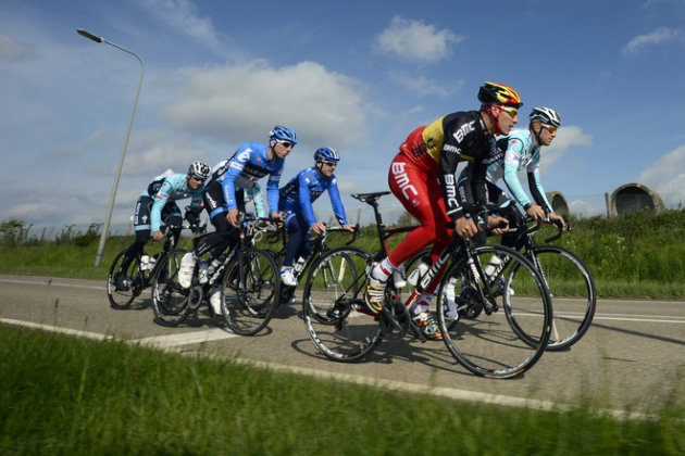 Belgian Tom Boonen, Belgian Sep Vanmarcke, Belgian Nick Nuyens, Belgian Philippe Gilbert And Belgian Dries Devenyns AFP/Getty Images