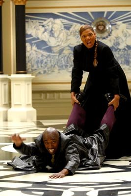 Queen Latifah and Eddie Griffin in Dimension's Scary Movie 3