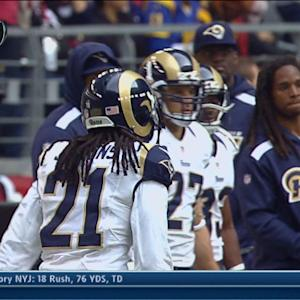 St. Louis Rams cornerback Janoris Jenkins recovers fumble