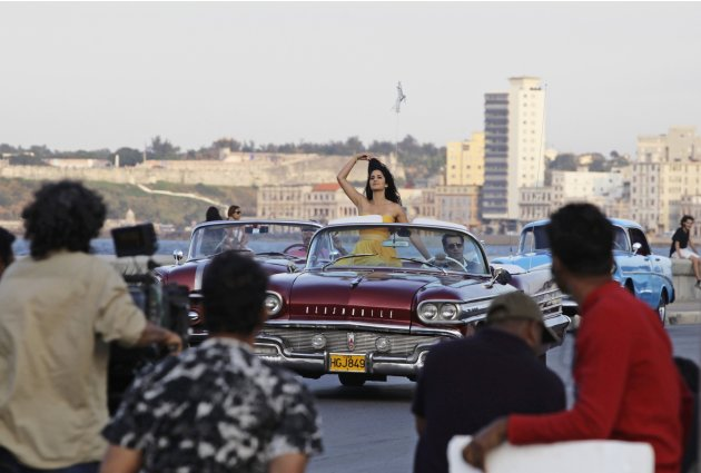 A camera crew films Bollywood …