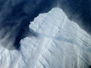 Snow Fills Antarctic Glacier Rift