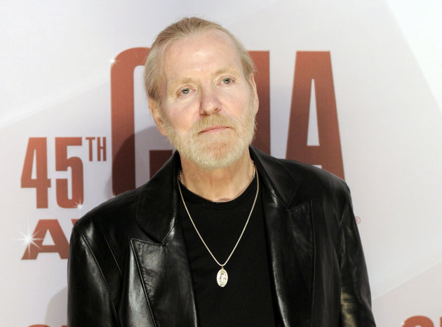 FILE - In this Nov. 9, 2011 file photo, singer Gregg Allman arrives at the 45th Annual CMA Awards in Nashville, Tenn. Allman has told several interviewers this week that he&#39;s engaged to his 24-year-old girlfriend, Shannon Williams, and Allman&#39;s publicist and manager confirmed the news Friday morning. This will be his seventh marriage. (AP Photo/Evan Agostini, file)
