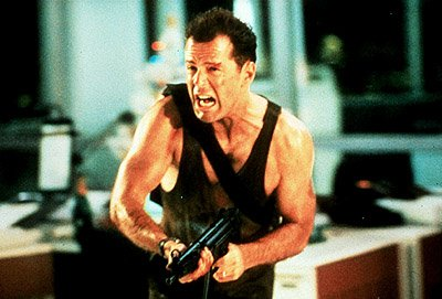 Bruce Willis as John McClane in 20th Century Fox's Die Hard 2: Die Harder