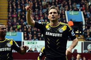 Aston Villa 1-2 Chelsea: Record-breaker Lampard all but cements Blues' Champions League spot
