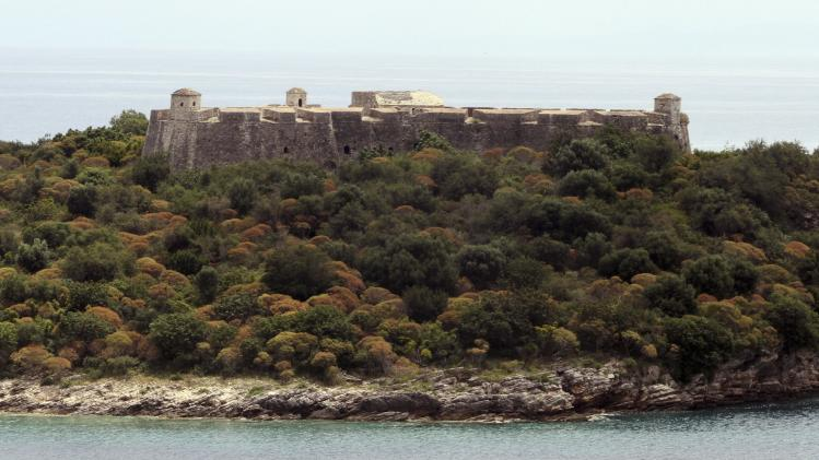 The castle of Ali Pasha Tepelena is seen in Porto Palermo