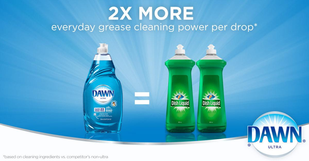 Cleans 2X More Greasy Dishes
