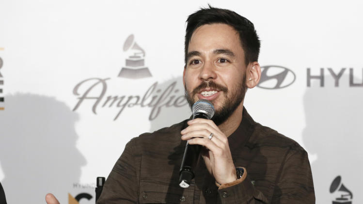 Musician Mike Shinoda of Linkin Park attends the 4th Annual Social Media Rock Stars Summit, on Friday, February, 8, 2013 in Los Angeles(Photo by Todd Williamson/Invision for Billboard Magazine/AP Images)