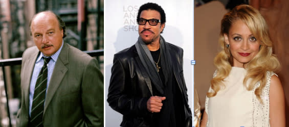 Then: Dennis Franz. Now: Lionel Richie (for his daughter Nicole)