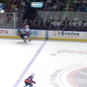 Travis Hamonic Hit on Cody Hodgson (17:42/1st)