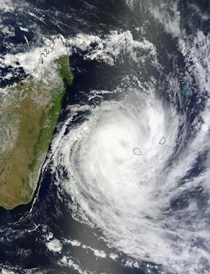 Tropical Cyclone Spotted Slamming Indian Ocean Islands