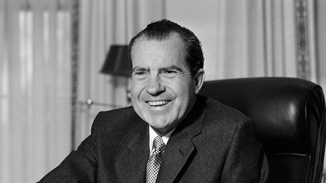 This Jan. 21, 1969 file photo shows President Richard Nixon at his desk at the White House in Washington. Nixon suffered a stroke in 1994 and died days later at age 81. Saturday, Aug. 9, 2014, marks the 40th anniversary of his resignation. (AP Photo/File)