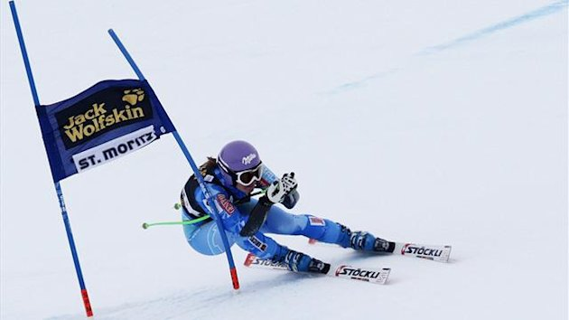 Tina Maze of Slovenia clears a gate during the Super-G run of the women&#39;s Alpine skiing World Cup Super Combined race at the Corviglia in the Swiss mountain resort of St. Moritz (Reuters)