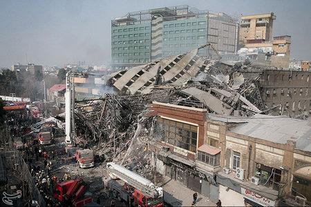 Iran says 25 missing in addition to 20 firemen killed in building collapse