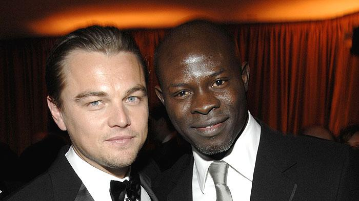Leonardo DiCaprio and Djimon Hounsou at the In Style and Warner Bros. 2007 Golden Globe After Party.