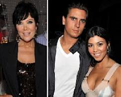 Kris Jenner, Scott Disick, Kourtney Kardashian -- Getty Images