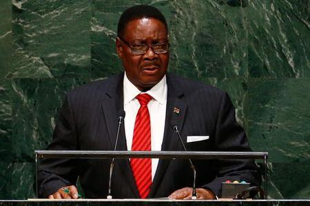 Arthur Peter Mutharika, President of Malawi, addresses the 69th United Nations General Assembly at the U.N. headquarters in New York