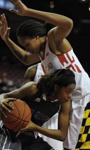 No. 8 Maryland women overpower Delaware St 93-44