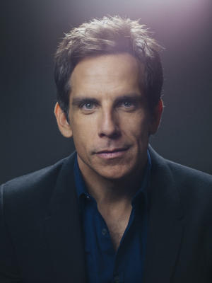 "In this Friday, Dec. 6, 2013 photo, Ben Stiller, star of the upcoming film, ""The Secret Life of Walter Mitty,"" poses for a portrait, in New York. The new film is Stiller's fifth time directing, but it's his boldest move toward establishing his career behind the camera. The actor-director talks to Associated Press about his Walter Mitty-esque dreams to expand himself as a filmmaker. (Photo by Victoria Will/Invision/AP)"