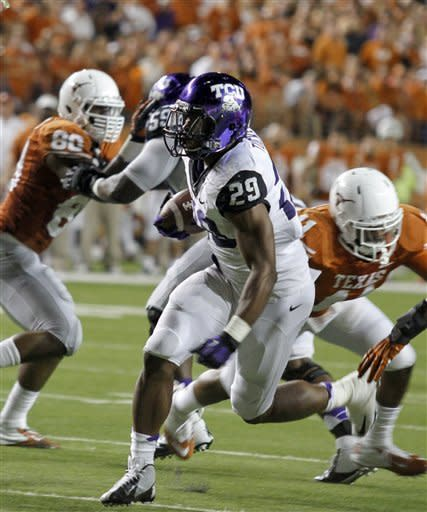 Defense sparks TCU over No. 18 Texas 20-13