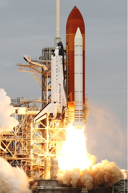 The space shuttle Atlantis lifts off from the Kennedy Space Center Friday, July 8, 2011, in Cape Canaveral, Fla. Atlantis is the 135th and final space shuttle launch for NASA. (AP Photo/Tim Donnelly)