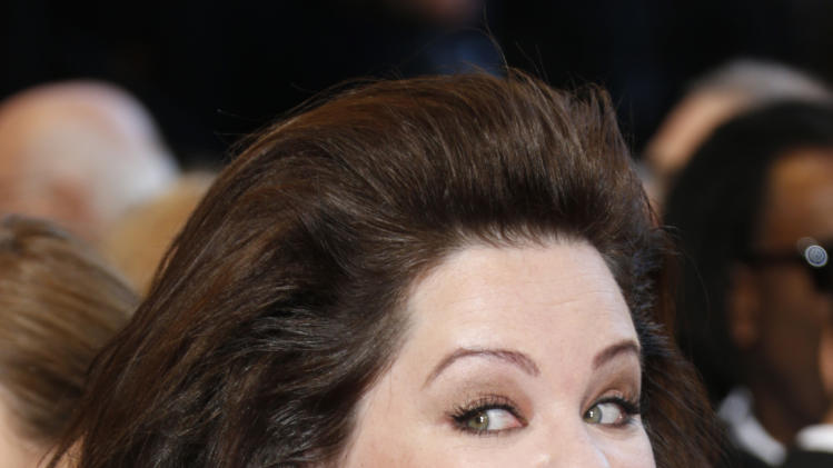 Actress Melissa McCarthy arrives at the Oscars at the Dolby Theatre on Sunday Feb. 24, 2013, in Los Angeles. (Photo by Todd Williamson/Invision/AP)